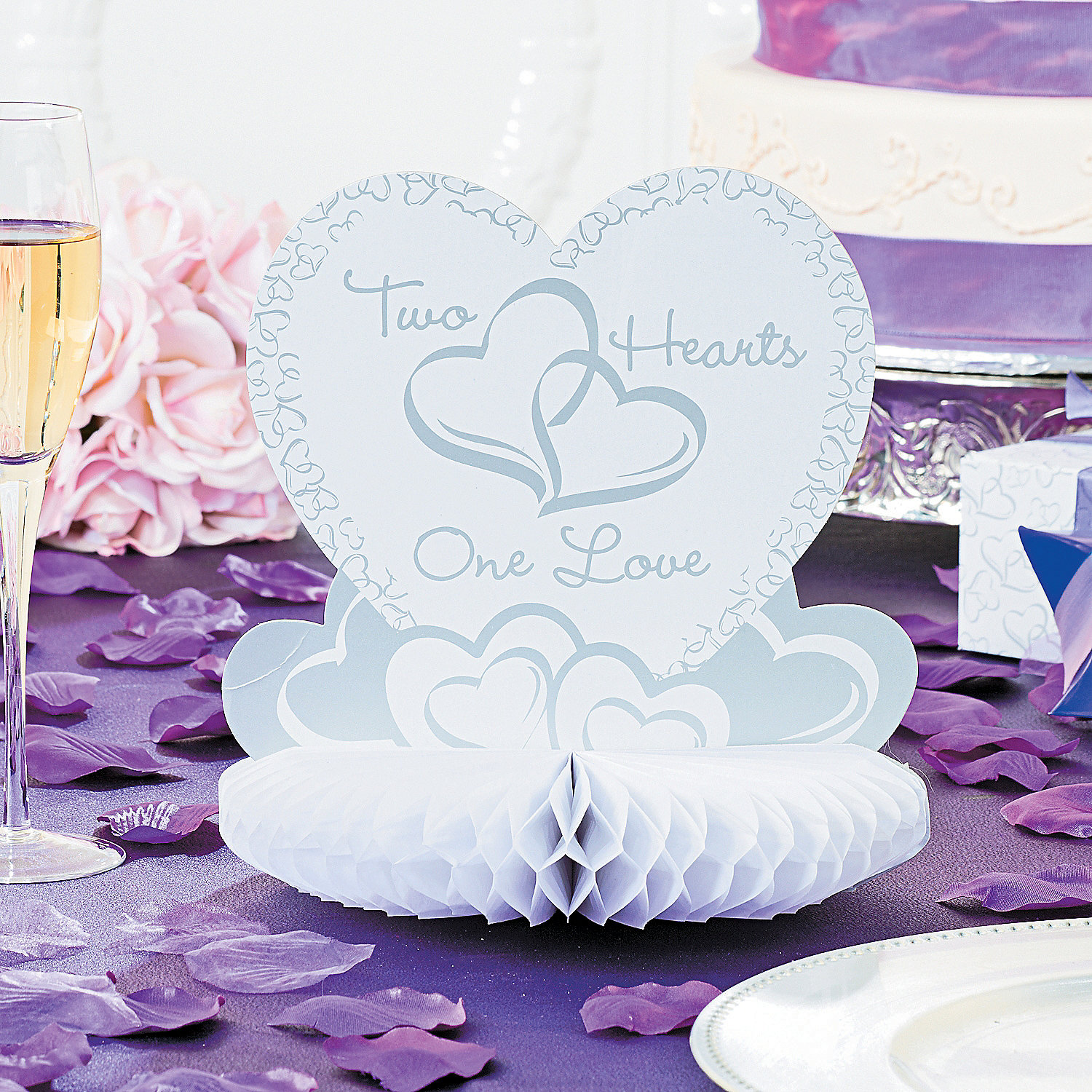 Two Hearts Wedding Centerpiece Oriental Trading