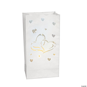 Two Hearts Luminary Bags