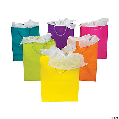 Large Neon Gift Bags