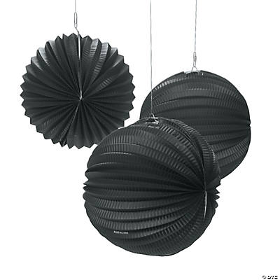 Small Black Party Lanterns