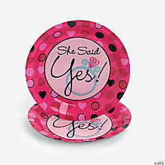 """She Said Yes"" Dessert Plates"