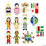 Jumbo Kids Around the World Jumbo Cutouts