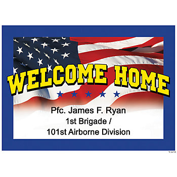 Personalized welcome home yard sign zold yard stakes for Welcome home party supplies decorations