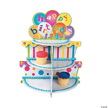 Birthday Cake Cupcake Holder