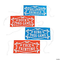4 Pc. Carnival Sign Assortment