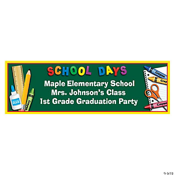Personalized School Days Banner - Medium