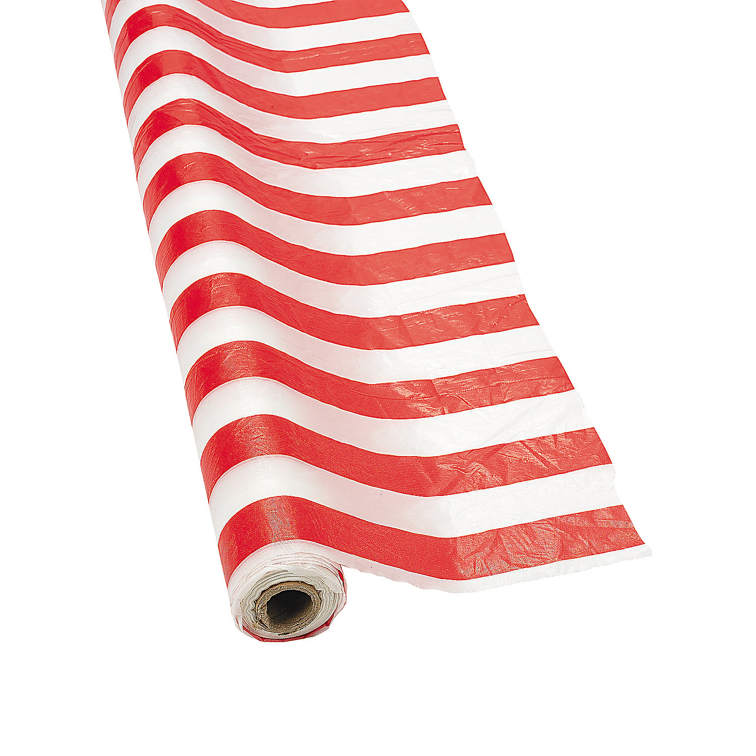 Red White Striped Tablecloth Roll Oriental Trading