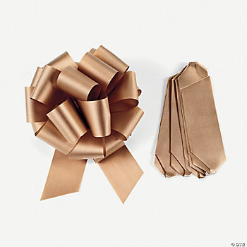 Bronze Wedding Pew Bows