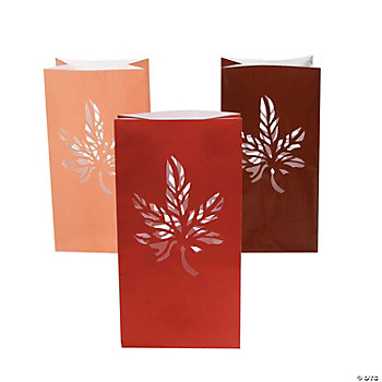 Fall Luminary Bags