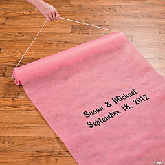 Personalized Aisle Runner - Candy Pink