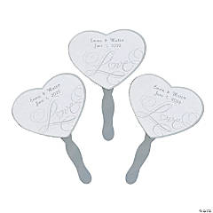 "Personalized ""Love"" Wedding Fans"