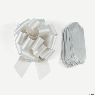 Silver Wedding Pew Bows