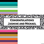 Personalized Black And White Wedding Banner - Small