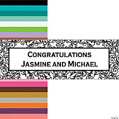Personalized Black And White Wedding Banner