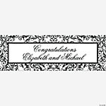 Personalized Black And White Wedding Banner - Large