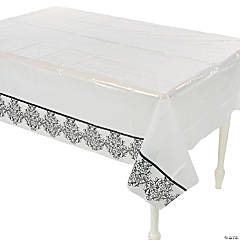 Black & White Wedding Tablecloth