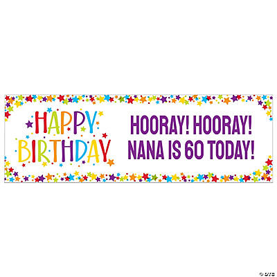 Personalized Milestone Birthday Banner - Medium