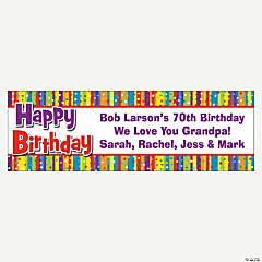 Personalized Milestone Birthday Banner - Large
