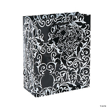 Small Black And White Wedding Gift Bags