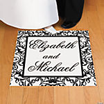Personalized Black & White Wedding Floor Cling