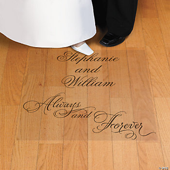 Personalized Love Wedding Floor Cling