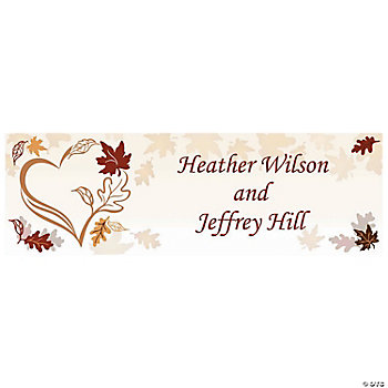 Personalized Fall Wedding Banner - Medium