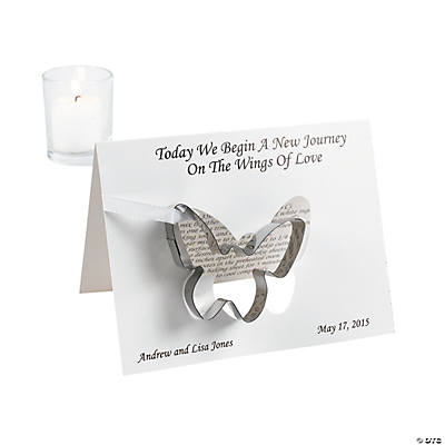 Personalized Spring Wedding Cookie Cutters with Card