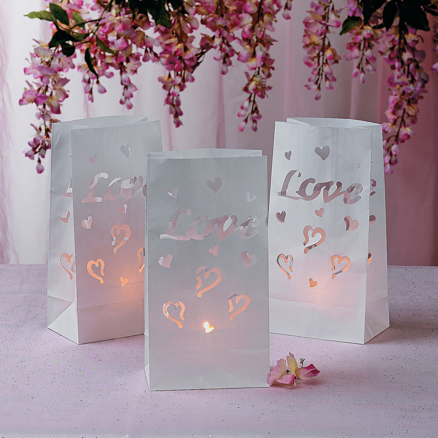 Love Wedding Luminary Bags Oriental Trading Discontinued