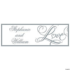 "Personalized ""Love"" Wedding Banner - Small"