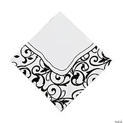 Black And White Wedding Luncheon Napkins