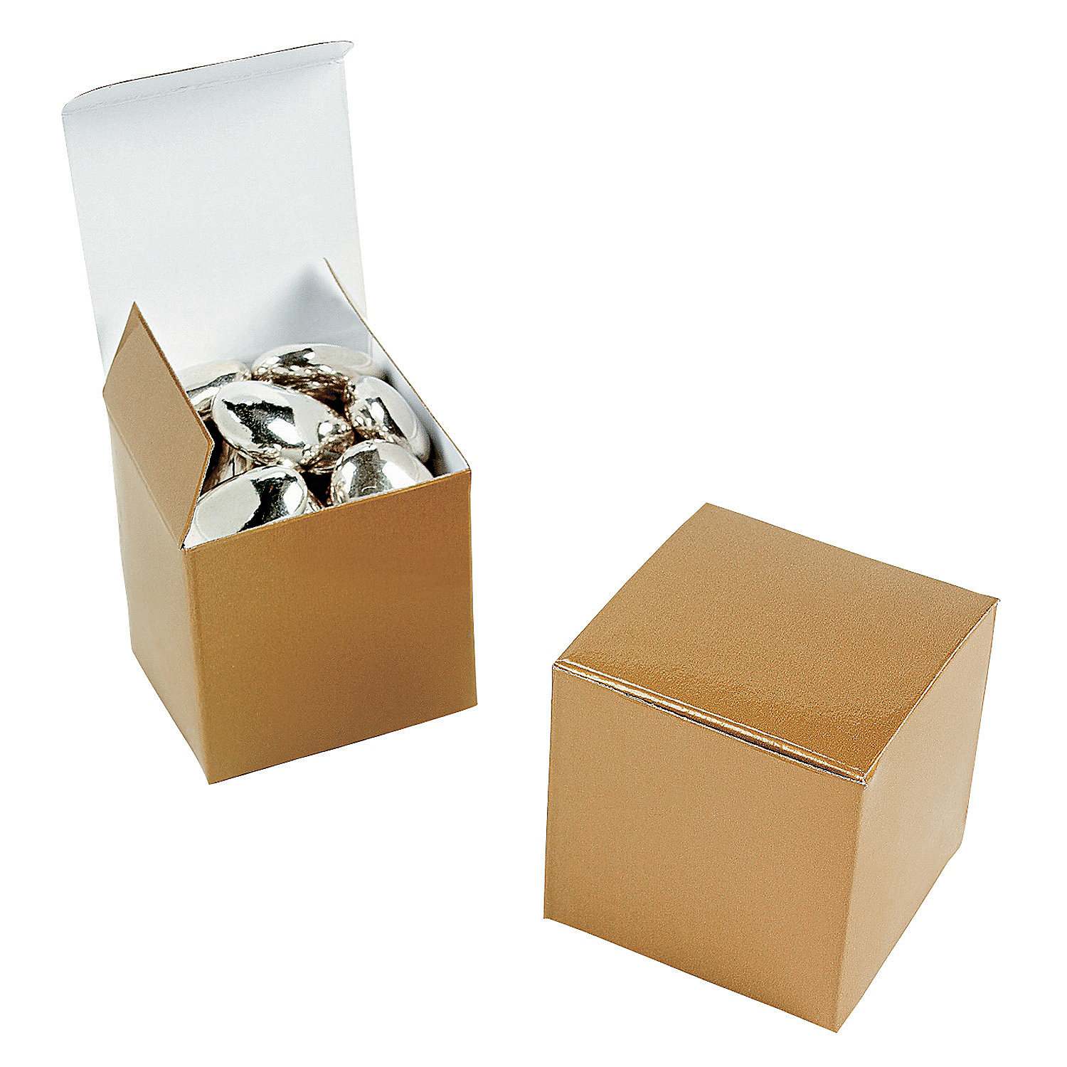 Gift Box Gold : Mini gold gift boxes oriental trading