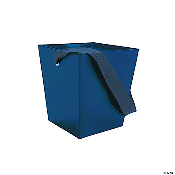 Blue Buckets With Ribbon Handle