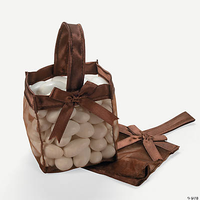 Mini Brown Favor Baskets