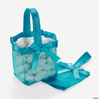 Mini Turquoise Favor Baskets