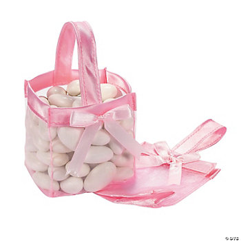 Mini Pink Favor Baskets