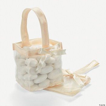 Mini Ivory Favor Baskets
