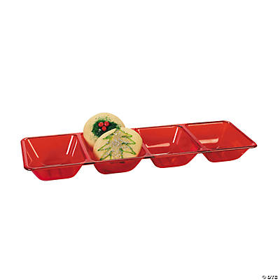 Red Four Compartment Tray