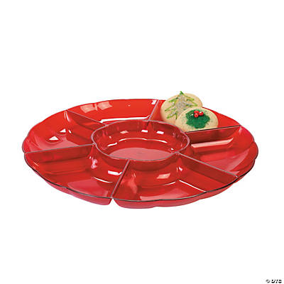 Red Seven Section Tray