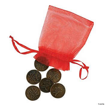 12 Chinese Good Luck Bags
