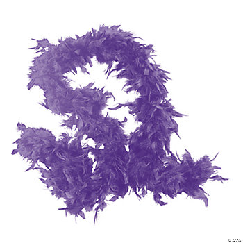 Purple Feather Boa