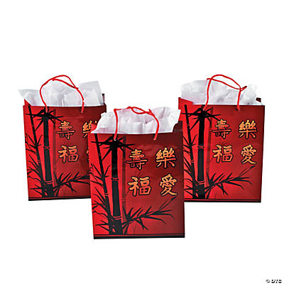 Chinese New Year Gift Bags with Handles