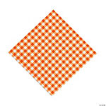 Orange Gingham Luncheon Napkins