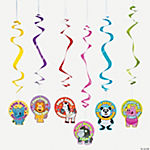 """100th Day Of School"" Dangling Swirls"