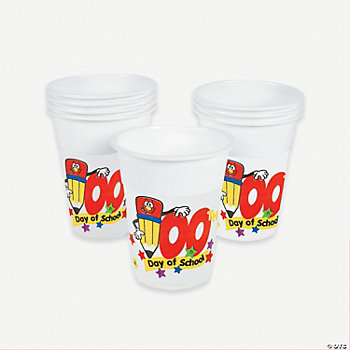"""100th Day Of School"" Disposable Cups"