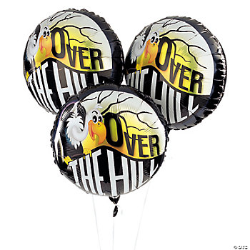 "3 ""Over The Hill"" Mylar Balloons"