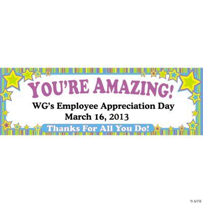 Personalized Employee Appreciation Banner - Medium