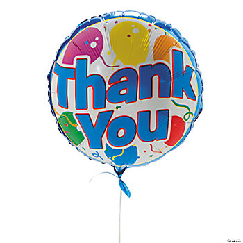 """Thank You"" Mylar Balloons"