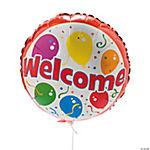 """Welcome"" Mylar Balloons"