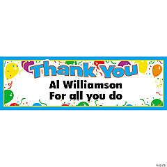 "Personalized ""Thank You"" Banner - Medium"