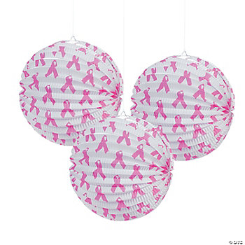 Pink Ribbon Party Lanterns